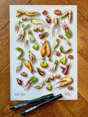 Rude Food Print image