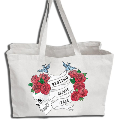 Resting Beach Face Tote Bag image
