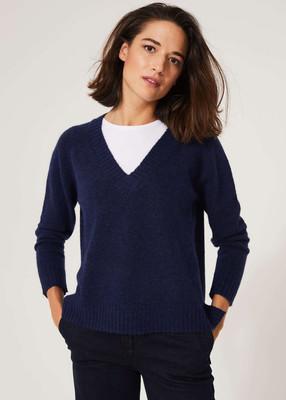 Fluffy Autumnal Jumper - Indigo Blue image