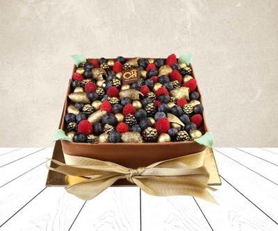 Choco crumble cake image