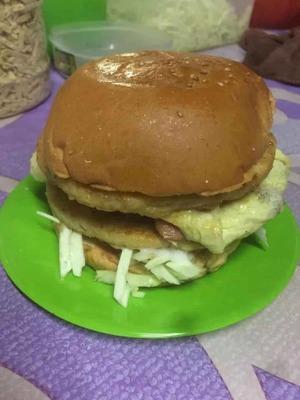 A6 Burger Double Chicken Egg Hotdog image