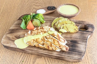 Grilled Chicken Breast (Kcal)198,Fat (g)4,Carbs (g)0,Protein (g)37 image