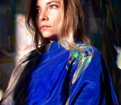 'Helix' Pure Silk Scarf Limited Edition  image