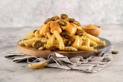 Cheesy jalepeno fries image