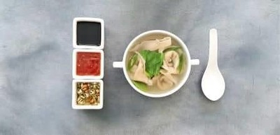 Veg Wonton Soup image