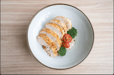 Sous Vide Chicken w Baked Potatoes image