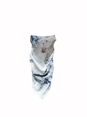 Koglo, Scarf Mask, Grey Floral Satin , 1pc image