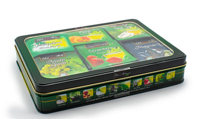 Tea 4 U, Green Tea Selection, 6 Flavours - 10 of each in a tin image