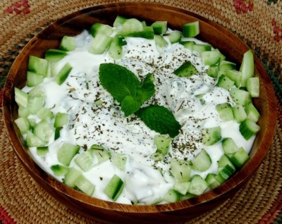 Yogurt with cucumber image