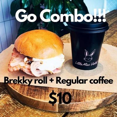 Coffe & Brekky Roll Combo image