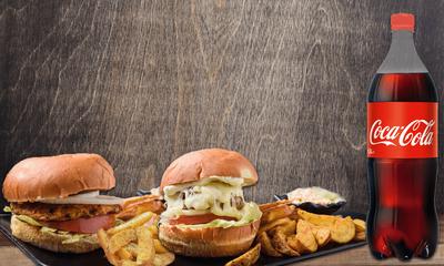 Με 2 Burger, Δώρο 1 Cola cola 1.5lt image
