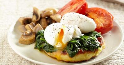 Breakfast Potato Hash with Mushrooms and Tomato image