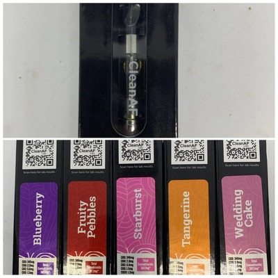 Clean AF CBD 3pack - 1g Vape Cartridges image