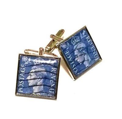 George VI Genuine Stamp Cufflinks  image