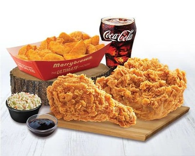 2 Pieces Chicken And Wedges Meal image