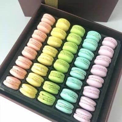40pcs Macarons In Gift Box image