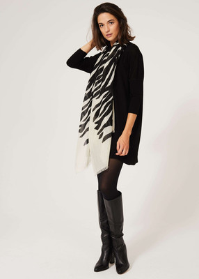 Merino Wool Dress - Black image